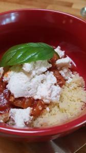 Lamb stew in tomato sauce and Irish buffalo ricotta