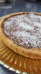 Chocolate and coconut tart