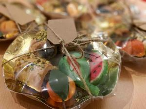 gift pack with marzipan and fig biscuits
